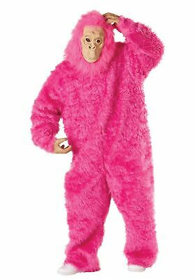 Pink Gorilla Costume (Seasons Pink Gorilla Costume w Mask & Hands, Adult one size fits)
