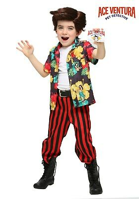 TODDLER ACE VENTURA COSTUME WITH WIG SIZE 4T - Ace Ventura Costume