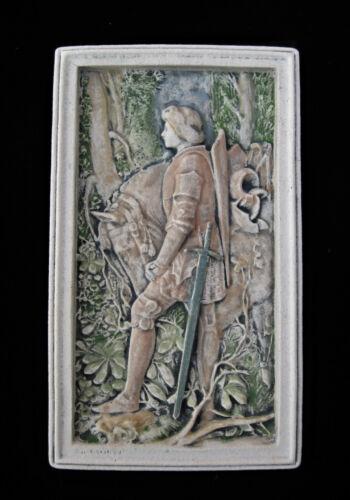 GALAHAD  KNIGHT  KING ARTHUR  NOBLE   ARTS & CRAFTS   GOTHIC ELLISON TILE