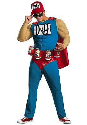 MEN'S PLUS SIZE DUFFMAN THE SIMPSONS COSTUME SIZE 2X (with defect)
