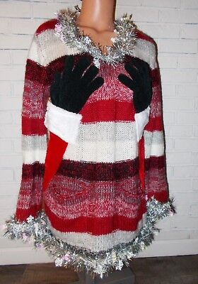 Ugly Christmas Sweater Dress Naughty Santa Hands GROPING TA TA'S Sz Large WINNER for sale  Decatur