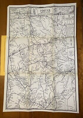 Foster Rhode Island Pictorial Directory Map by George E Matteson 1947 History