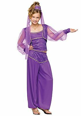 CHILD DREAMY GENIE COSTUME SIZE MEDIUM AND LARGE (missing tank top)