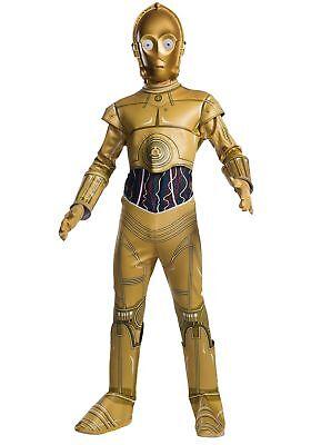 C-3po Deluxe Kinder Kostüm Star Wars Droide Gold Metallic Rubies