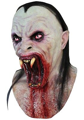 Blood Thirsty Vampire Creature Ghoulish DELUXE ADULT LATEX VIPER MASK