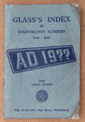 Glass's Index of Registration Numbers 1949 - 1959