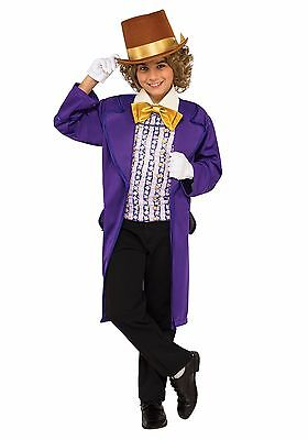 Child The Chocolate Factory Willy Wonka Costume
