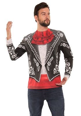 Adult Mariachi Costume (Faux Real Mariachi Suit Photorealistic Adult Halloween Costume Shirt)
