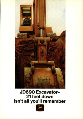 1970 John Deere Equipment Print Advertisement: JD690 Excavator Featured
