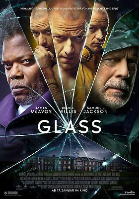 Glass original XL Kinoplakat 2019 DIN A1 Neu Poster 59x84cm Bruce Willis Split