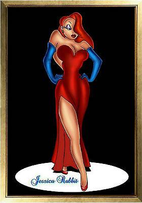 MAGNET Disney Character JESSICA RABBIT Red Dress Standing Spotlight Photo Magnet (Jessica Rabbit Red Dress)