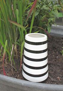 vase schwarz wei ebay. Black Bedroom Furniture Sets. Home Design Ideas