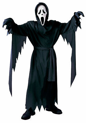 st Face Robe Halloween Costume Cosplay Plus Size up to 300lb (Ghostface Robe)