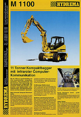 8 x Gehlmax Bagger Lader Grader Dumper Prospekt 1992//00