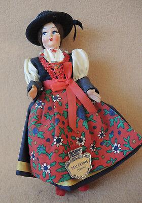 Alte Trachtenpuppe Trachten Puppe aus Italien 17 cm von anno dazumal TOP