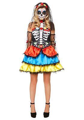 Women's Day of the Dead Senorita Costume (Day Of The Dead Costums)