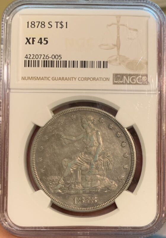 1878-S  NGC  XF45  TRADE  DOLLAR