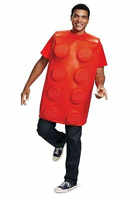 Adult LEGO Red Brick Costume - Lego Costume Adult
