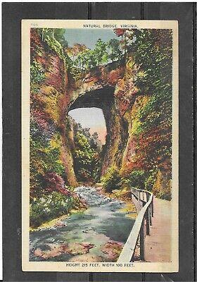 "Vintage Unposted Asheville Linen Postcard of ""Natural Bridge"", Virginia"
