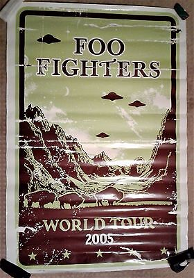 FOO FIGHTERS 2005 WORLD TOUR POSTER LARGE * RARE, DAVE GROHL