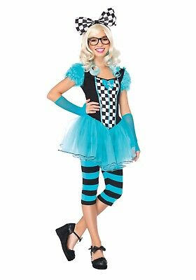 LEG AVENUE HIPSTER ALICE CHILD HALLOWEEN COSTUME JUNIOR SIZE MEDIUM/LARGE 12-14 - Girl Hipster Halloween Costume