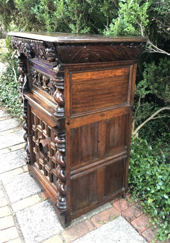 Antique Scandinavian Denmark Hunter's Cabinet c. Mid to Late 18th Century RARE