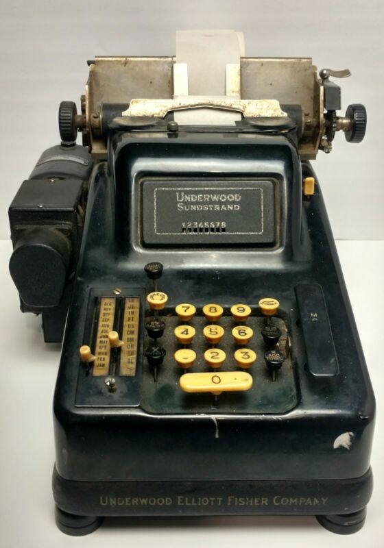 SUNDSTRAND Underwood Vintage Collectible Antique Cash Register ADDING Machine