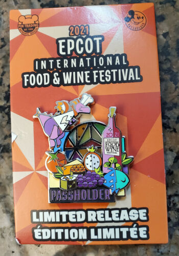 Disney 2021 Epcot Food And Wine Festival Figment Passholder LR Pin