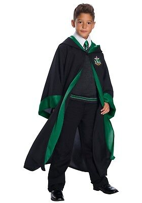 HARRY POTTER SLYTHERIN HOUSE STUDENT CHILD HIGH END COSTUME ROBE,SWEATER,TIE