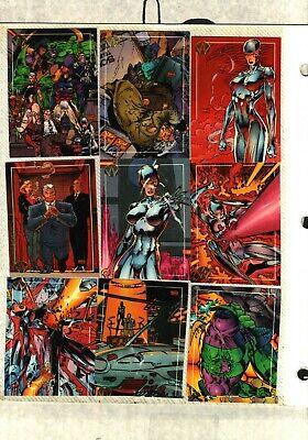 1993 TOPPS WILDCATS Complete 100 Card Set  Jim Lee Art NEAR MINT