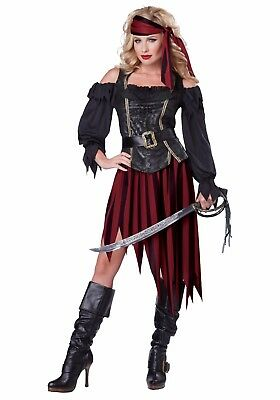 PIRATE QUEEN OF THE HIGH SEAS ADULT HALLOWEEN COSTUME WOMEN'S SIZE X-LARGE