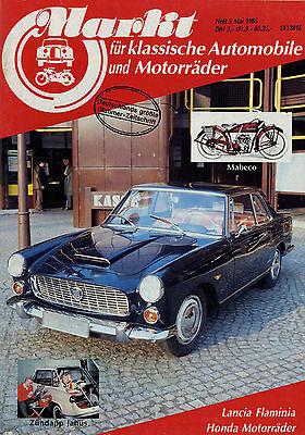 Markt 5/85 1985 Fiat 600 770 Lancia Flaminia Mabeco Zündapp Janus Honda Dream