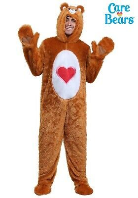 ADULT CLASSIC CARE BEARS TENDERHEART BEAR COSTUME SIZE XL (with defect) - Care Bear Costumes