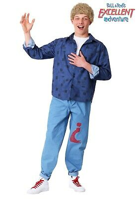 Ted Costume For Adults (BILL & TED'S EXCELLENT ADVENTURE BILL COSTUME FOR ADULTS SIZE SMALL (with)
