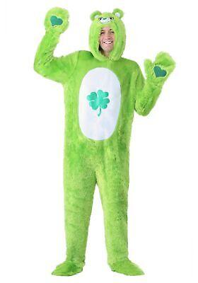 Green Care Bear Costume (Care Bears Adult Classic Good Luck Bear)