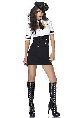 LAG 83839 Leg Avenue Damen Fasching Kostüm Pilot Pilotin Flieger Class Captain - Captain Pilot Kostüm