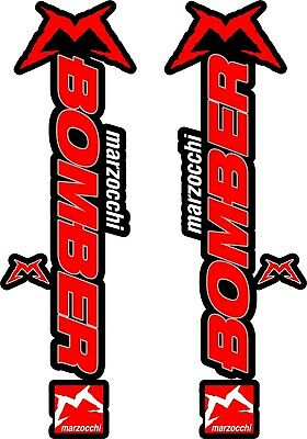 Marzocchi Bomber 58 2018 Fork Suspension Sticker Decal Kit Adhesive Gray