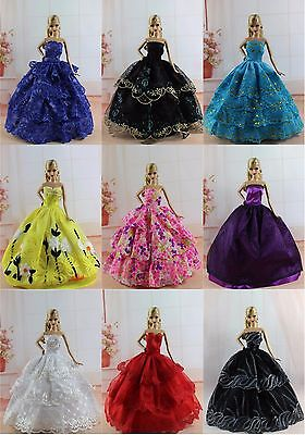 15 items=5* Fashion Handmade Party Dress/Clothes/Gown +10 shoes For Barbie Doll  on Rummage