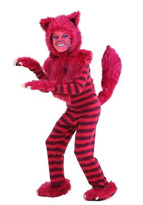 CHILD DELUXE CHESHIRE CAT COSTUME SIZE LARGE (with defect)