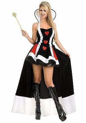 Enchanting Queen of Hearts Alice Long Women Costume