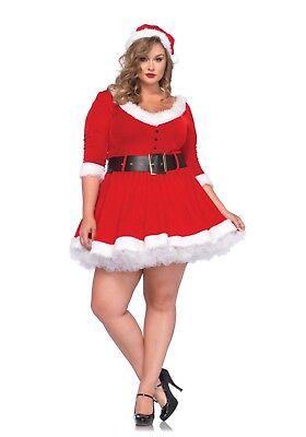 IAL 85411 Fasching Damen Kostüm Weihnachtsmann Miss Santa Weihnacht Frau (Damen Miss Santa Kostüme)