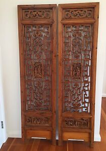 Chinese Antique Screen doors -Pair Northbridge Willoughby Area Preview