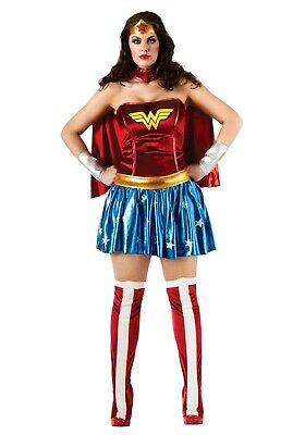ADULT PLUS SIZE WONDER WOMAN COSTUME SIZE 14-16(with defect) ()