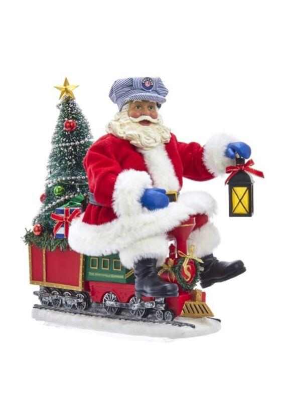 Lionel Lighted Fabriche Santa on Train Tablepiece
