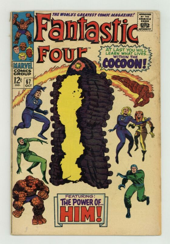 Fantastic Four #67 GD- 1.8 1967 1st app. Him (Warlock)