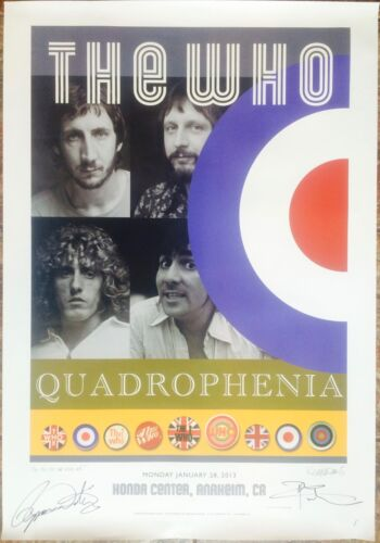 The Who - Anaheim  - SIGNED (by Daltrey & Townshend!!!) Quadrophenia Poster