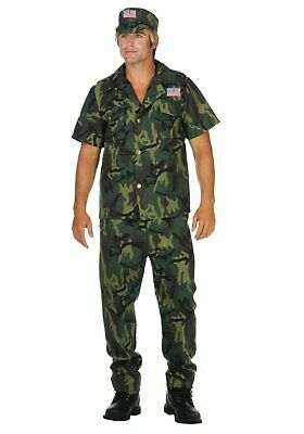 RG Costumes 85462 Camo Commando (Standard;44 To (Camo Commando Kostüme)