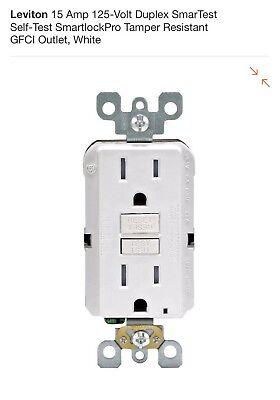 Leviton Gfci Electrical Outlet 125v Volt 15a Amp Tamper Resistant R92-gftr1-0kw