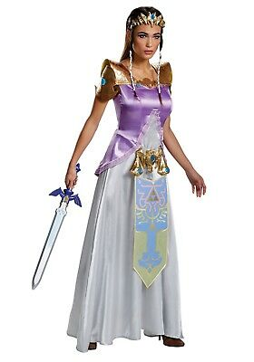 ADULT ZELDA DELUXE COSTUME SIZE SMALL 4-6 (w/defect)