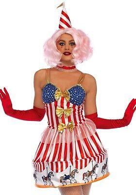 LAG Leg Avenue L085636 Damen Kostüm Carousel Clown Narr Närrin Harlekin Pierrot - Leg Avenue Clown Kostüm